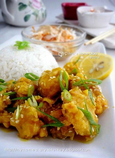 Lemon Chicken (Ayam saus lemon)