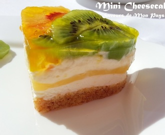 Mini cheesecake sans cuisson aux fruits