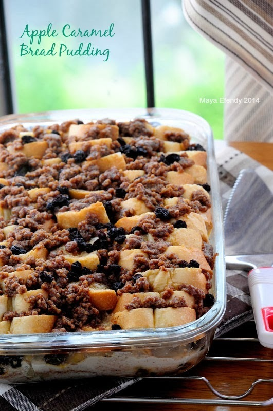 APPLE CARAMEL BREAD PUDDING
