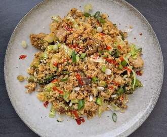 Chicken fried Rice LCHF / Blomkålspytt