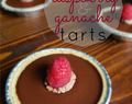 Mini Raspberry Ganache Tarts | No Bake!