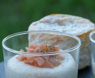 VERRINE LANGRES A LA MOUSSE AVOCAT SAUMON FUME