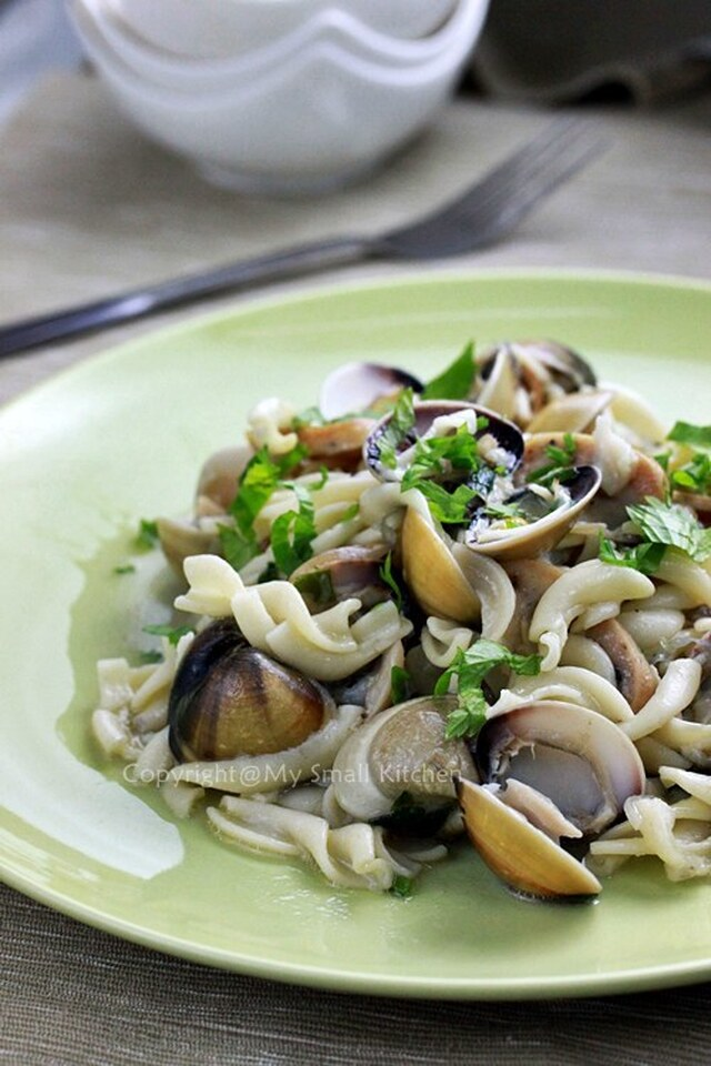 Pasta with Clams & Sausages