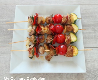 Brochettes de filet mignon de porc marinées au paprika (Filet mignon skewers pork marinated in paprika)