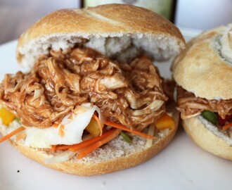 Snelle pulled chicken