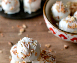 Eggnog Cookie Dough Truffles