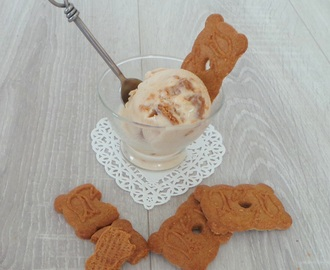 Glace bananes spéculoos au fromage blanc (Banana ice cream speculoos with beat cream cheese)