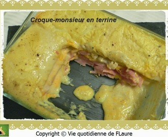 Croque-monsieur en terrine