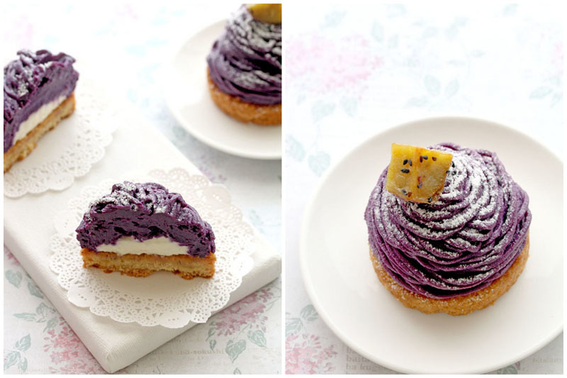 Purple Sweet Potato Mont Blanc (紅いも モンブラン)