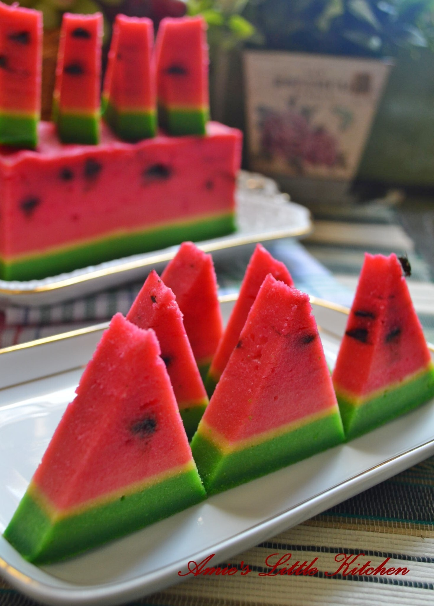 Kek Lapis Water Melon Cheese