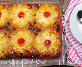 Pineapple Raisin Upside Down Cake