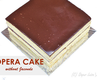 OPERA CAKE without Jaconde