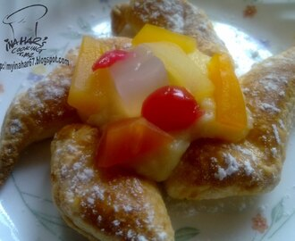 FRUIT COCKTAIL CUSTARD PUFF