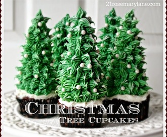 Fun Holiday Idea ~ Christmas Tree Cupcakes