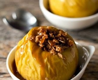 Baked apples with orange and figs