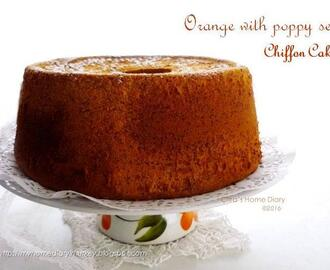 Orange with poppy seeds Chiffon cake recipe