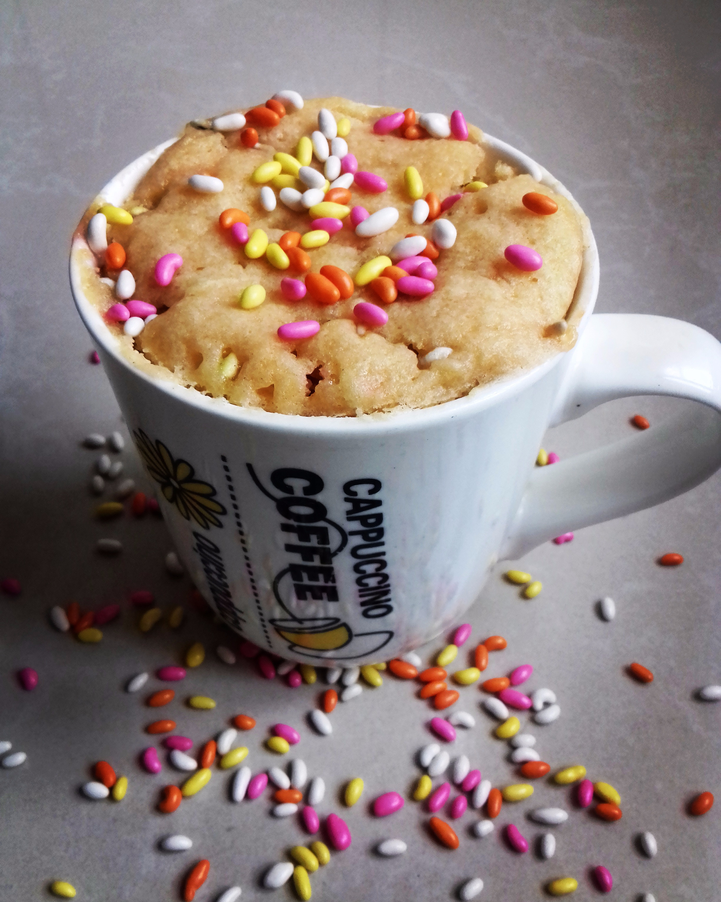 CANDIED FENNEL SEEDS MUG CAKE