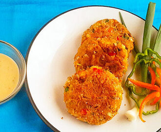 Crispy and soft Sweet Potato Tuna Patties