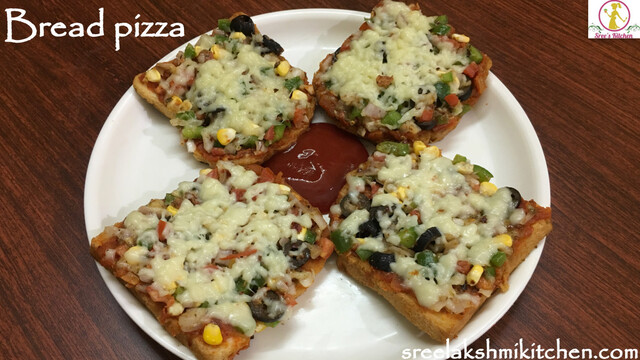 Bread pizza | how to make bread pizza recipe on tawa (without oven)