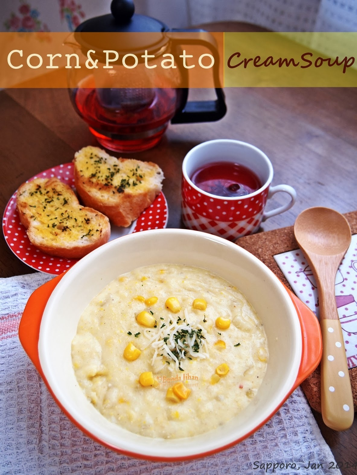 Sup Krim Jagung dan Kentang ( Corn and Potato Cream Soup )