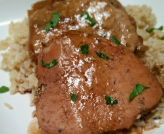 Crock Pot Brown Sugar Balsamic Pork Chops