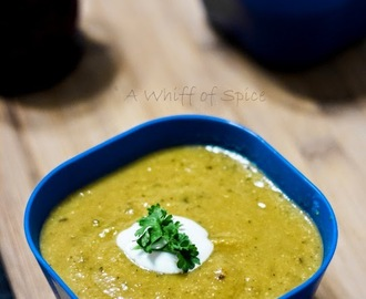 Roasted Zucchini and Yellow Summer Squash Soup