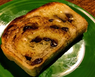 No-Knead Cinnamon Raisin Buttermilk Bread