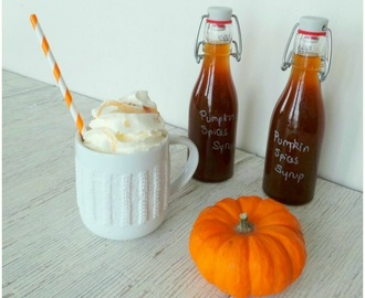 Sirop de potiron (citrouille) aux pumpkin spices (Pumpkin syrup (pumpkin) with pumpkin spices)