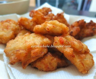 蒜香大葱虾肉块 Fried Garlic,Onion and Prawn Fritters