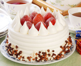 Resep Cara Membuat Tart Natal Hias Strawberry