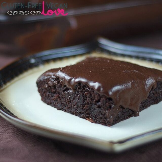 Gluten-Free Vegan Chocolate Texas Sheet Cake {Refined Sugar-Free}