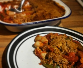 Slimming World Friendly Recipe: Heck Chicken Italia Sausage and Vegetable Bake with Crumb Topping