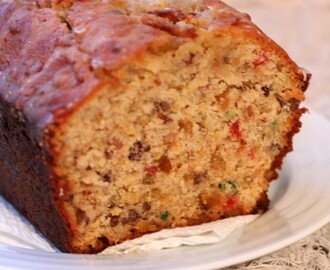 Orange-Glazed Fruitcake Quick Bread for #TwelveLoaves