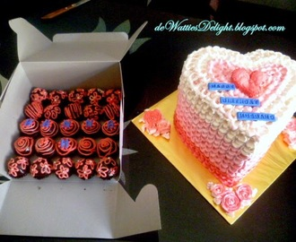 Heart Shaped Ombre Cakes and PopCake Balls