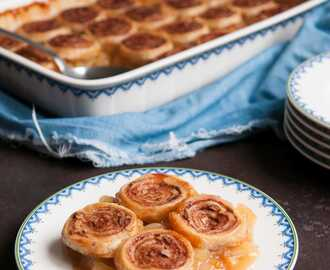 Cinnamon roll crumble met appel