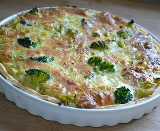Quiche van prei en broccoli