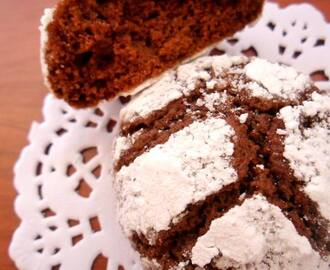 Chocolate Crinkles Cookies dal cuore morbido