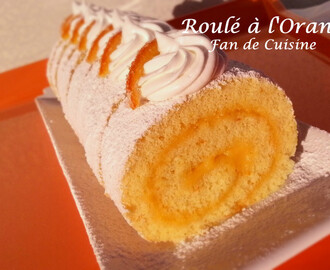 Gâteau roulé à l'orange curd