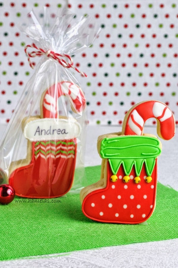 3D Christmas Stocking Cookies