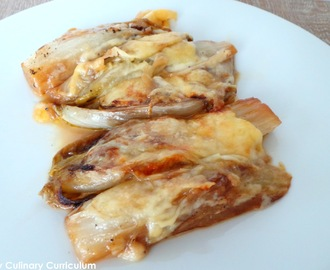 Endives braisées au Maroilles (Braised chicory with Maroilles cheese)