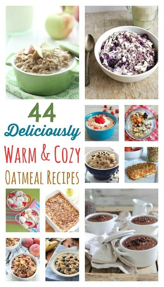 44 Deliciously Warm and Cozy Oatmeal Recipes
