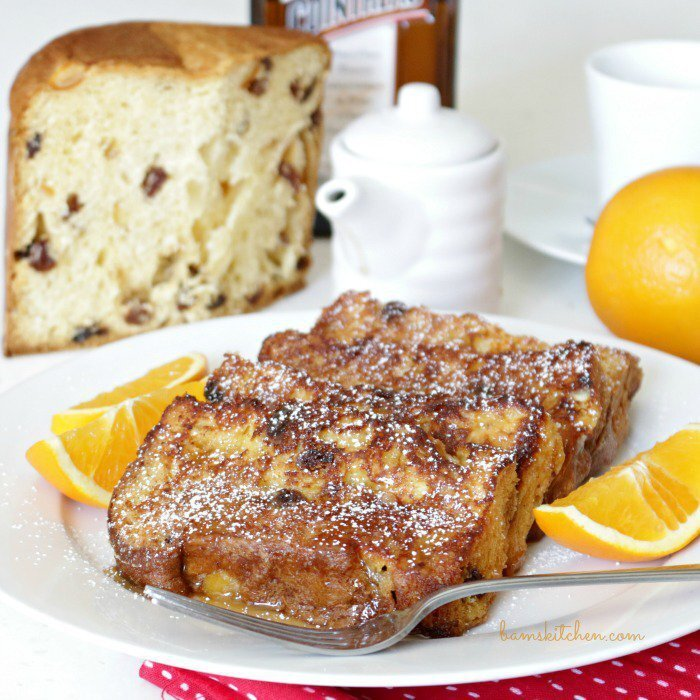 Panettone French Toast with Buttery Maple Cointreau Syrup