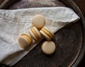Caramelized Hazelnut Macarons