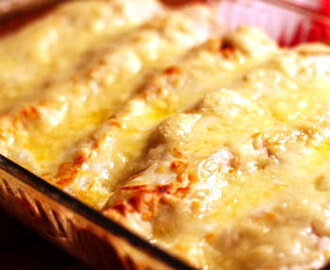 Swiss Cheese and Chicken Enchiladas