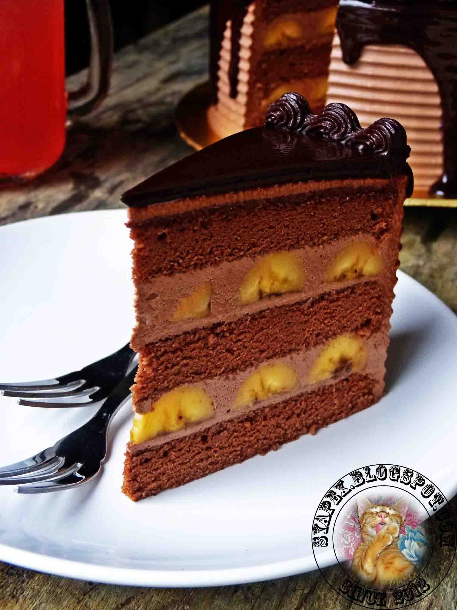 Banana Chocolate Mousse Cake