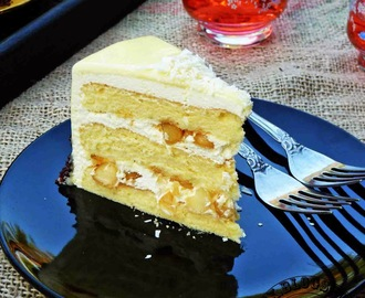 White Chocolate Macadamia Cake for My Birthday dan....