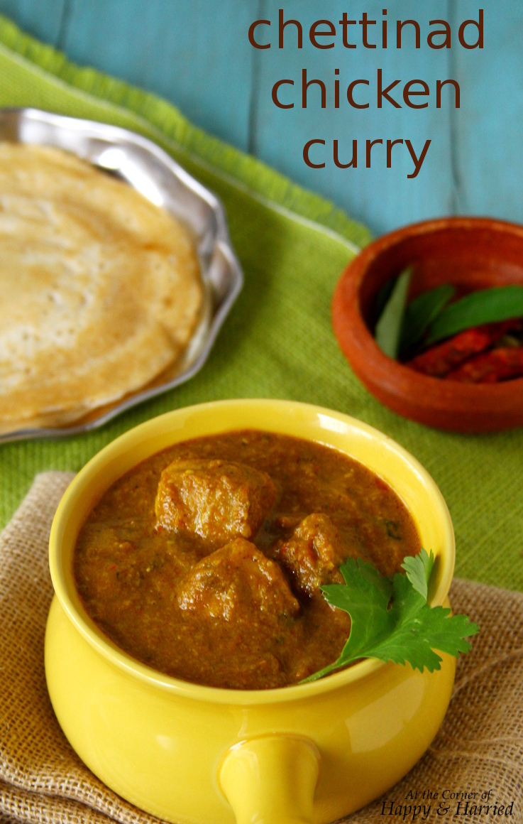 Chettinad Chicken Curry {Chicken In A Spicy, Roasted Coconut Curry}