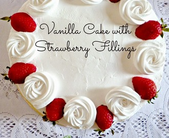 Vanilla Cake (Strawberry Fillings)