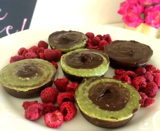 Pumpkin Seed Butter Cups with Raspberries