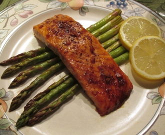 Salmon with Sweet Bourbon Glaze